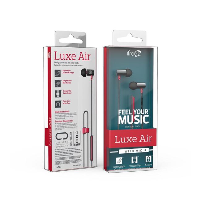 Billede af iFrogz Luxe Air Earphones Mic Red