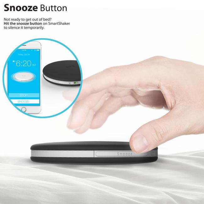 Image of   iLuv SmartShaker Alarm : iLuv SmartShaker Alarm Black