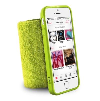 Billede af Armbånd / håndled til iPhone 5 / 5S Puro Løbe Armbånd Lime grøn.