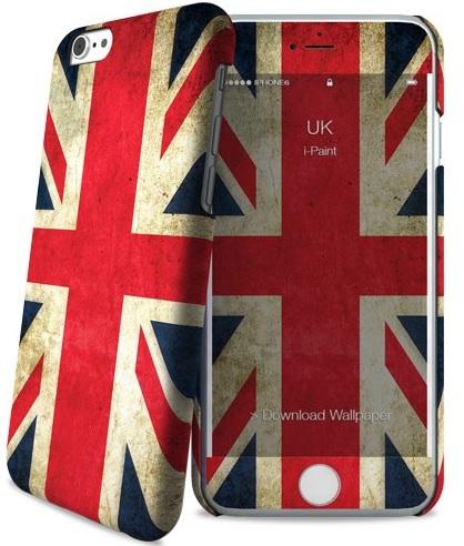 Billede af Apple iPhone 6 / 6S cover med engelsk flag i-Paint Skin