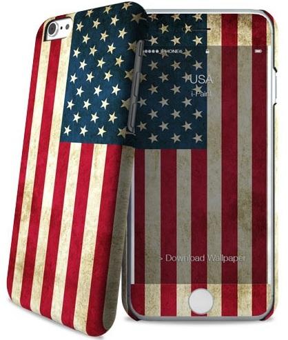 Billede af Apple iPhone 6 / 6S cover med amerikanks flag i-Paint Skin