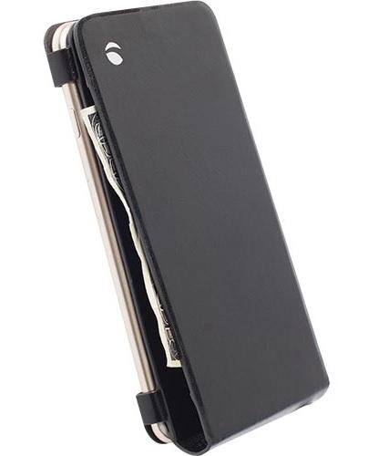 """Billede af Apple iPhone 6 Plus (5.5"""") flipcover i ægte læder. Krusell Wallet Case Sort"""