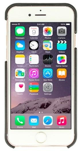 Image of   iPhone 7 Bagcover i Læder Med Dankort Lomme Valenta Classic Luxe Sort