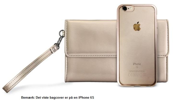 Billede af iPhone 7 Puro TPU Satin Frame Cover w/Pochette Gold