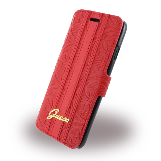 Image of   iPhone 7 Heritage Booklet Case w/CardSlots Red