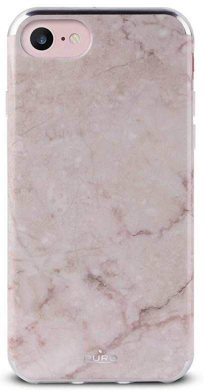 Billede af Puro Marmor Cover til iPhone 7 og iPhone 6/6S Pink