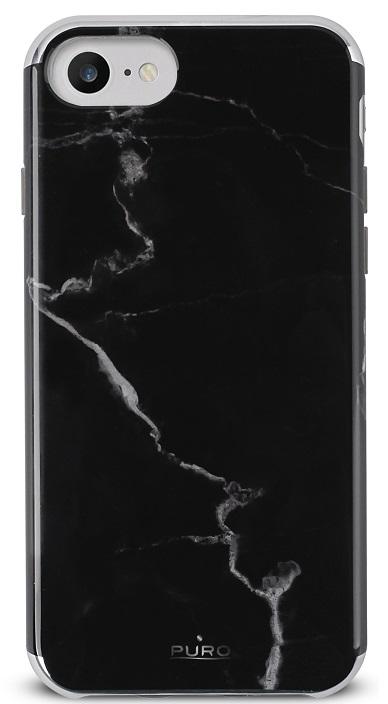 Billede af Puro Marmor Cover til iPhone 7 og iPhone 6/6S Sort