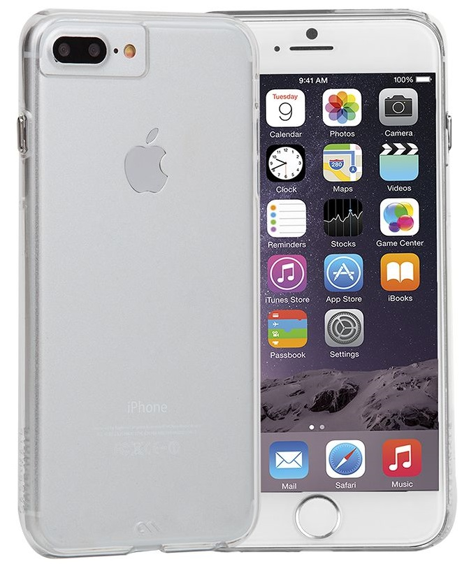 """Billede af iPhone 7 Plus / 6S Plus (5.5"""" skærm) Cover Case-mate Barely There Clear"""