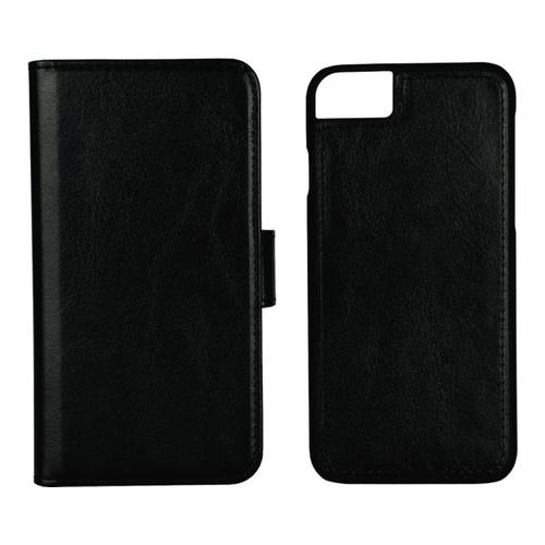 iPhone 8/7/6S PU Wallet 3 Kort Detach sort