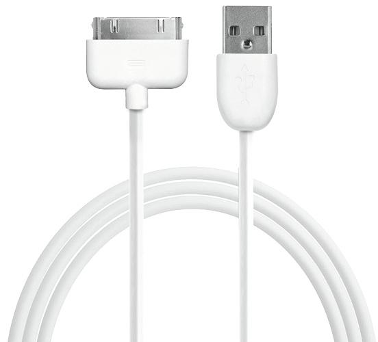 Billede af iPhone / iPad 30-pins datakabel 1 m - Hvid