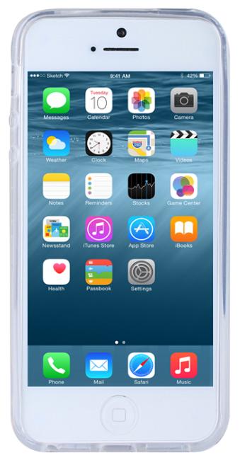 Image of   iPhone SE og iPhone 5 / 5S Gennemsigtigt Silikone Cover fra Redneck