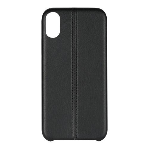 Billede af iPhone X PU Stripe Cover Black