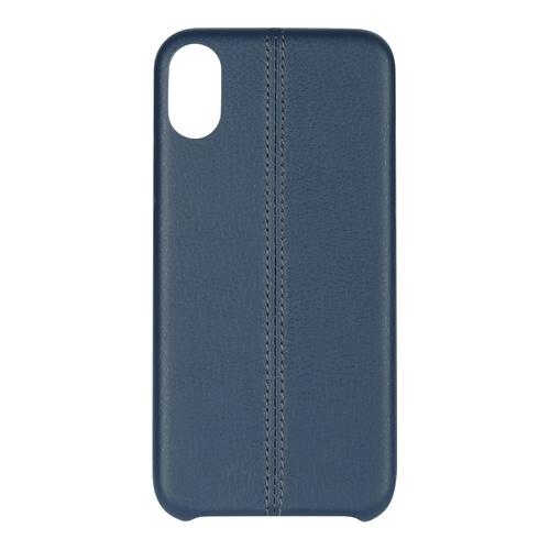 Billede af iPhone X PU Stripe Cover Blue