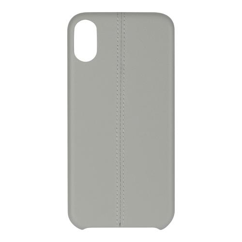 Billede af iPhone X PU Stripe Cover Grey