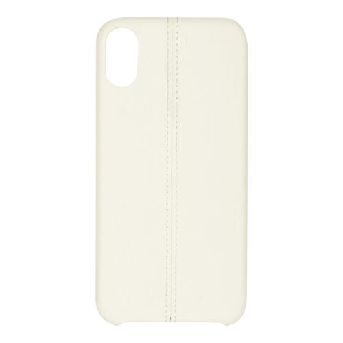 Billede af iPhone X PU Stripe Cover White