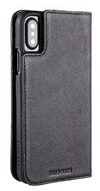 Image of   iPhone X Pung Case-mate Wallet Folio i ægte læder Sort