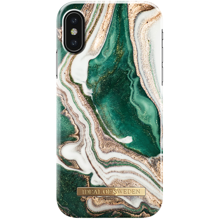 iPhone X/XS Cover iDeal Fashion Case Golden Jade Marble