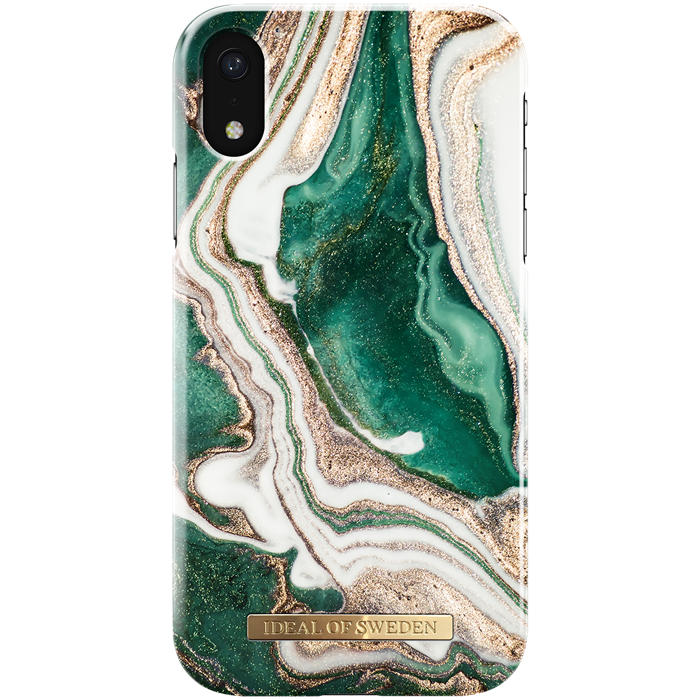 iPhone XR Cover iDeal Fashion Case Golden Jade Marble