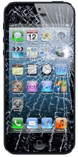 iPhone 5S / SE reparation: Display / glas udskiftning - Sort