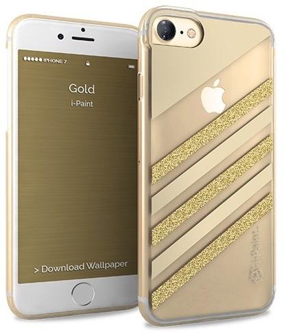 Billede af iPhone 7 Glamour Case med guld glimmer fra i-Paint
