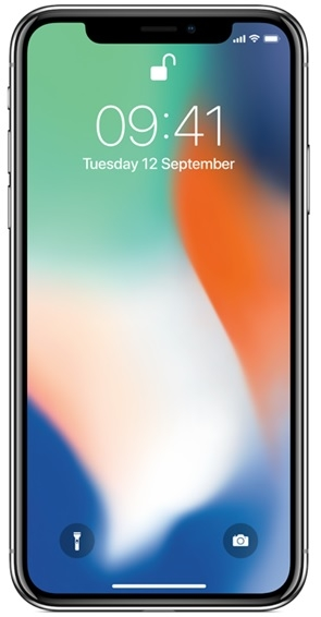 Image of   Apple iPhone X 256GB Sølv