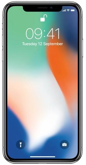 Image of   Apple iPhone X 64GB Sølv