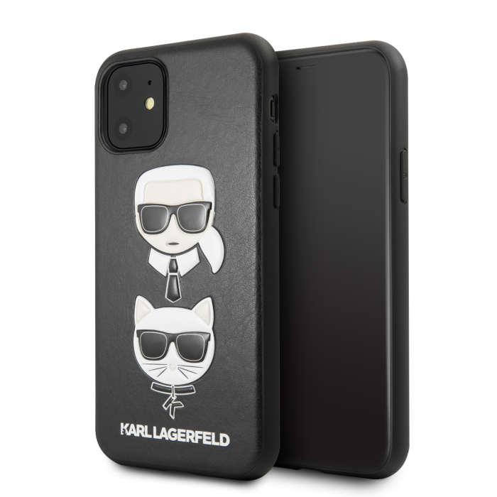 Image of   Karl Lagerfeld - Choupette Embossed Case- Apple Iphone 11 - Black