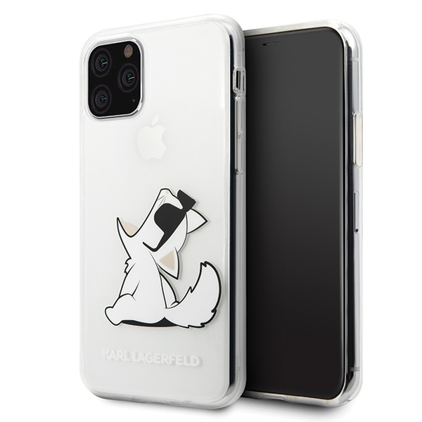 Image of   Karl Lagerfeld - Choupette Gradient Case - Apple iPhone 11 Pro Max - Trasnsparent