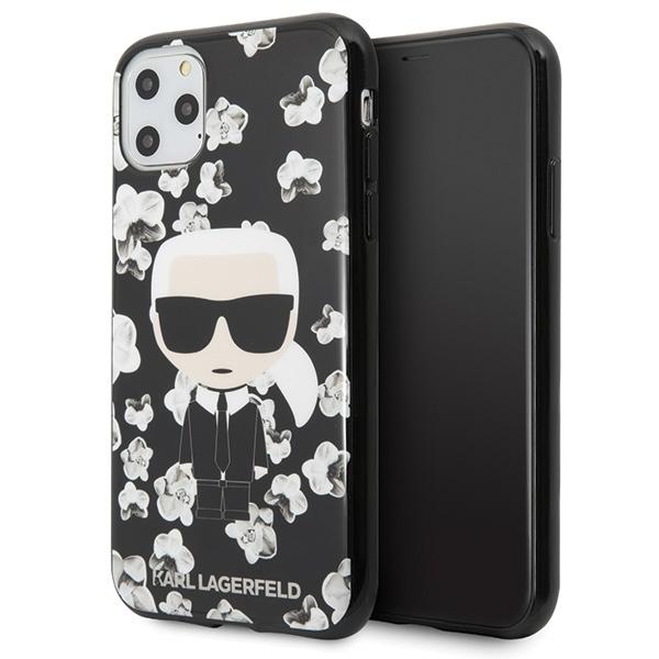Image of   Karl Lagerfeld - Flower Case - Apple iPhone 11 Pro - Black