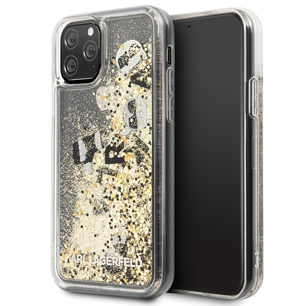Image of   Karl Lagerfeld - Glitter Floatting Case - Apple iPhone 11 Pro - transparent