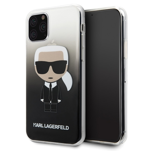Image of   Karl Lagerfeld - Iconic Gradient Case - Apple iPhone 11 Pro Max - Black