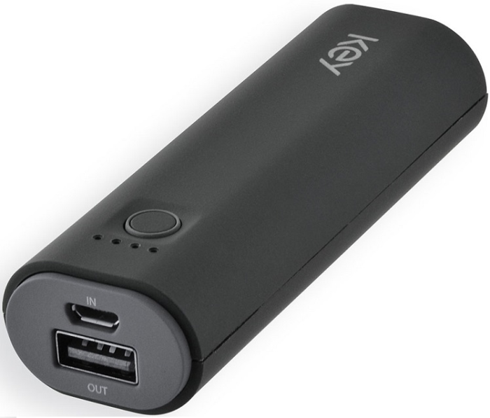 Image of   KEY POWER BANK 1 USB-A (1.0A 2500MAH MICRO USB BLACK)