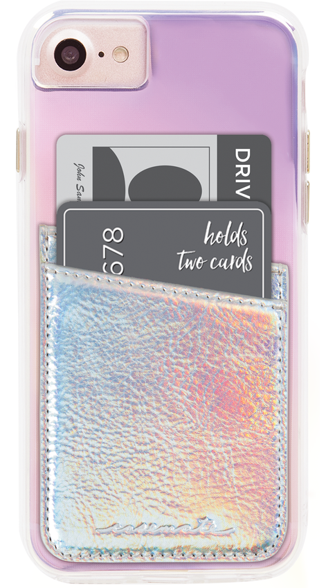 Image of   Case-Mate Pockets Kreditkort lomme til covers Iridescent