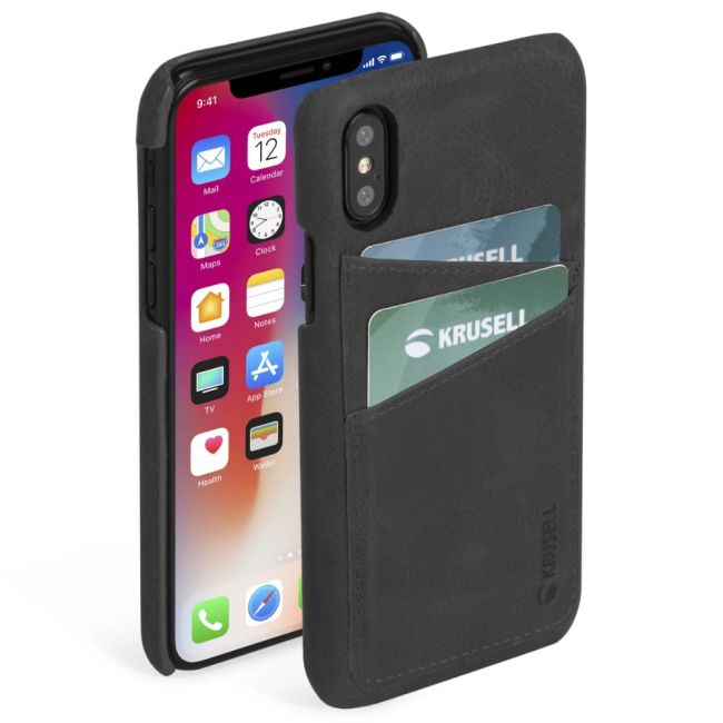 Krusell Sunne 2 Card Cover Apple iPhone XS Max : Krusell Sunne 2 Card Cover Apple iPhone XS Max Black