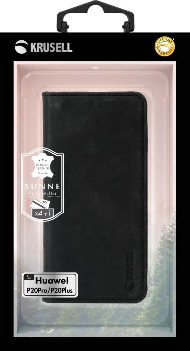 KRUSELL SUNNE 4 CARD WALLET (HUAWEI P20 PRO VINTAGE BLACK)