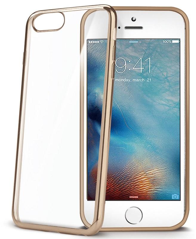 Billede af iPhone 7 Silikone Cover Celly Laser Edge Guld