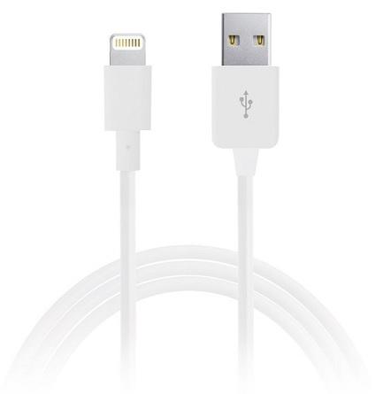 Billede af Puro Lightning til USB datakabel Apple godkendt Hvid