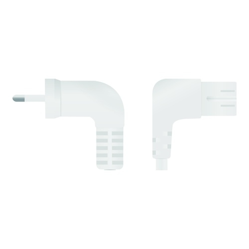 Image of   Mains cable Euro angled - type C7 angled 2m wht