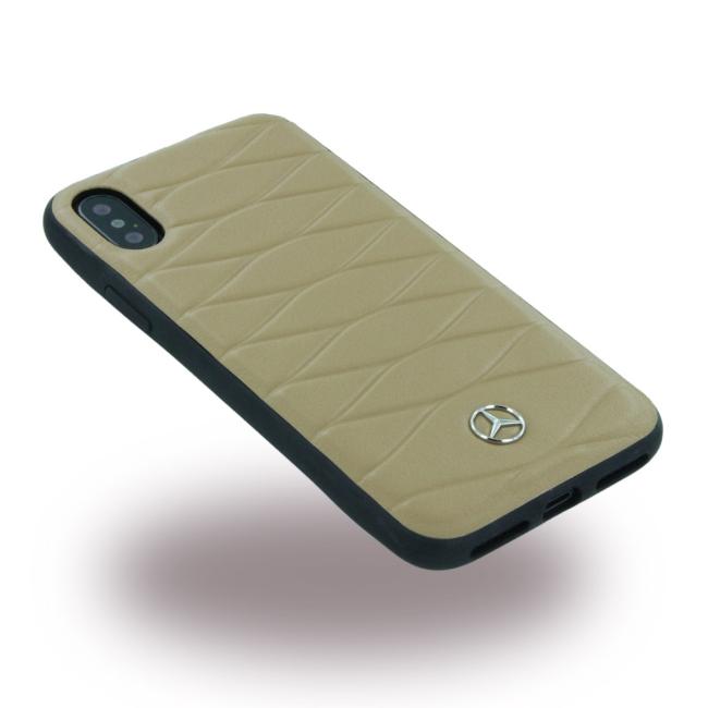 Image of   Mercedes Benz Læder Cover til iPhone X Brun
