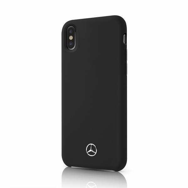Mercedes Benz - Silikon / Fiber - Apple iPhone XS Max - Hard Case - black