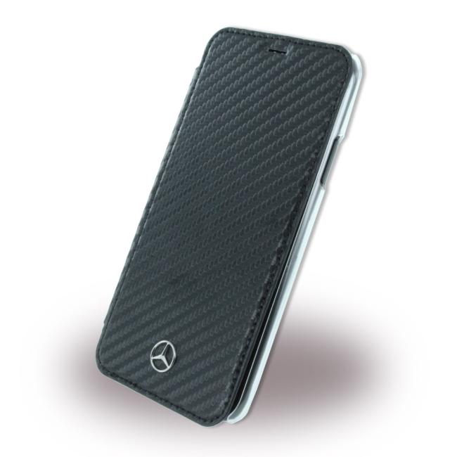Image of   Mercedes Benz Wallet cover til iPhone X Sort/Transparent
