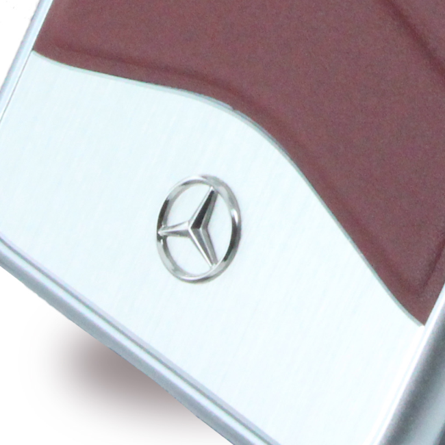 Image of   Mercedes Benz - Wave III Leather + Aluminium MEHCP7CUSRE - Hard Cover / Hard Case - Apple iPhone 7 - Red