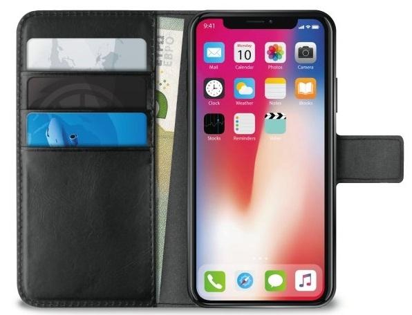 Billede af iPhone X Flipcover Puro Milano Wallet med 3 Kreditkortlommer