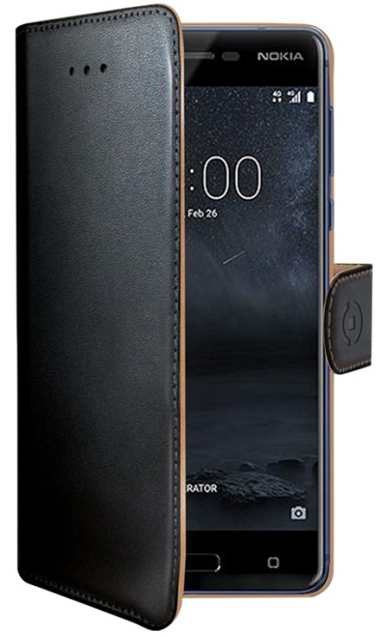 Image of   Nokia 5 flipcover Celly Wally Case - Sort