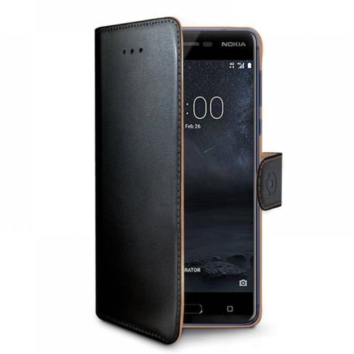 Image of   Nokia 7+ flipcover Celly Wally Case - Sort