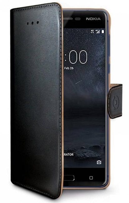 Image of   Nokia 8 flipcover Celly Wally Case - Sort