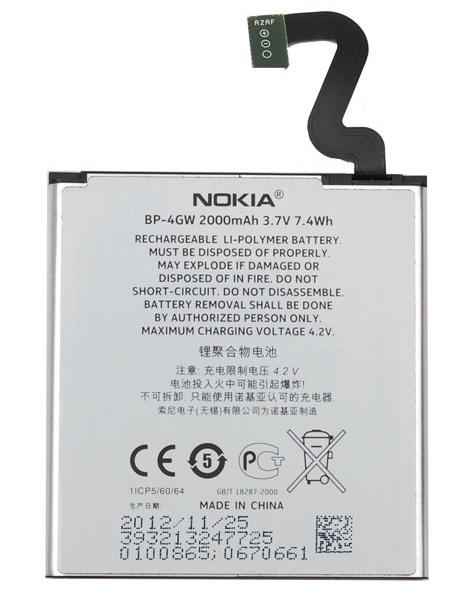 Billede af Nokia Lumia 920 batteri BP-4GW Originalt