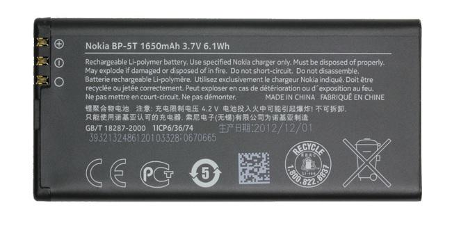 Billede af Nokia Lumia 820 batteri BP-5T Originalt