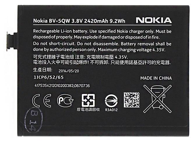 Billede af Nokia Lumia 930 batteri Originalt Nokia BV-5QW
