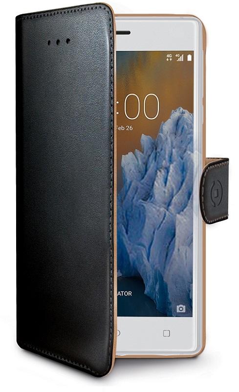 Billede af Nokia 3 flipcover med Dankortlommer Celly Wally Case Sort